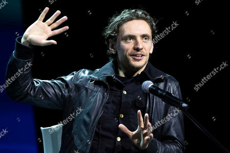 Dancer Sergei Polunin speaks during the Moscow Cultural Forum in Moscow, Russia, . The forum brings together representatives of culture and art, heads of relevant ministries and business representatives