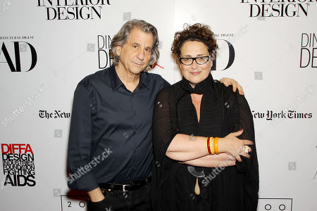 Stock Picture of David Rockwell (Architect,Designer), Cindy Allen (Interior Design's editor-in-chief)