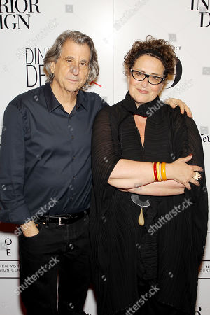 Stock Image of David Rockwell (Architect,Designer), Cindy Allen (Interior Design's editor-in-chief)