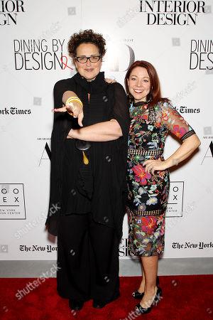 Cindy Allen (Interior Design's editor-in-chief), Dawn Roberson (National Events Director, DIFFA)
