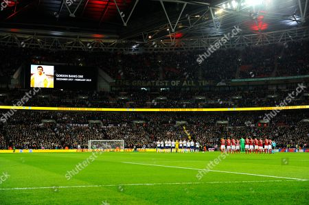 A minutes applause for Gordon Banks during the UEFA European 2020 Qualifier match between England and Czech Republic at Wembley Stadium, London
