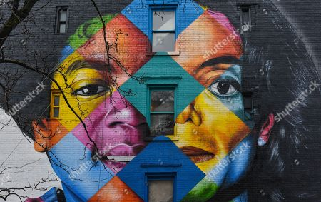 Editorial picture of Michael Jackson mural by Brazilian street artist Eduardo Kobra, New York, USA - 22 Mar 2019