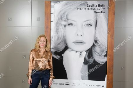 Cecilia Roth poses prior to receiving the 'Retrospective Award' in the framework of the Malaga International Film Festival in Malaga, southern Spain, 22 March 2019, a recognition for her lifelong career and work.