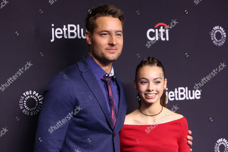 Stock Image of Justin Hartley and Isabella Justice Hartley