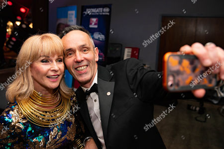 Toyah Willcox does selfie with guest.