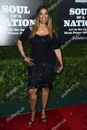 Stock Image of Areva Martin arrives at The Broad Presents West Coast Debut of 'Soul of a Nation: Art in the Age of Black Power 1963-1983' on in Los Angeles