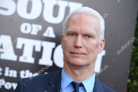 Klaus Biesenbach arrives at The Broad Presents West Coast Debut of 'Soul of a Nation: Art in the Age of Black Power 1963-1983' on in Los Angeles