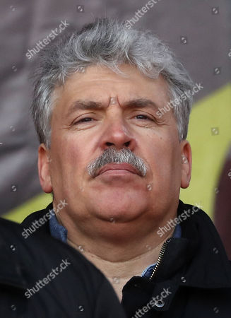 Russian businessman and former presidential candidate from the Communist party of Russian Federation Pavel Grudinin takes part in anti-government rally in Moscow, Russia, 23 March 2019. Participants of the rally demand to change the social economic course of the development of Russia.
