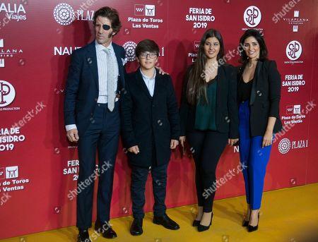Bullfighter Juan Jose Padilla, wife Lidia Cabello and sons