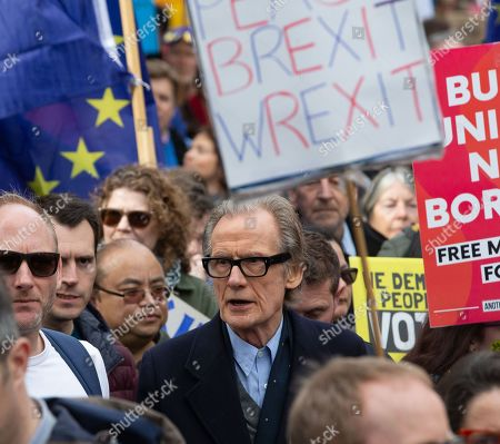 Actor, Bill Nighy, on the march More than a million people march through central London calling for another EU referendum in what is called 'The People's March'. They joined a rally in front of parliament.