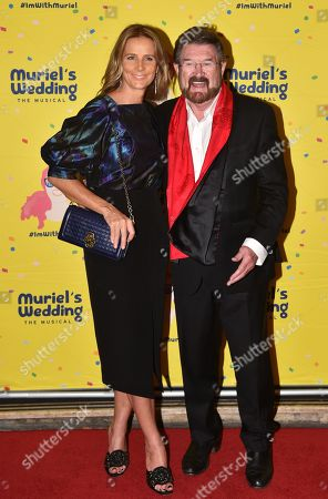 Rachel Griffiths (L) and Senator Derryn Hinch poses for a photograph on the red carpet at the opening night of the multiple Award-winning new Australian show 'Muriel's Wedding The Musical' at Her Majesty's Theatre in Melbourne, Victoria, Australia, 23 March 2019. Muriel's Wedding the Musical is an Australian stage musical, based on the 1994 film.