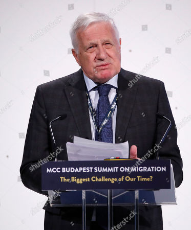 Former Czech President Vaclav Klaus delivers his speech during the MCC Budapest Summit on Migration titled 'The Biggest Challenge of Our Time?' organized by the Mathias Corvinus Collegium (MCC) in Varkert Bazaar in Budapest, Hungary, 23 March 2019. Hungary hosts the global migration conference attended by many experts, decision-makers and diplomats in the field from around the world from March 22 to 24.