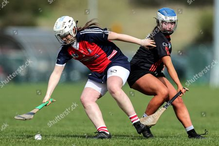 Stock Picture of St. Angela's Ursuline vs Cross & Passion. Cross & Passion's Megan McGarry and Abby Flynn of St. Angela's Ursuline