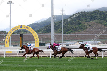 Stock Picture of , Conghua, China, Nordic Warrior with Matthew Chadwick up wins the Hong Kong Jockey Club Trophy, the first ever race in Conghua racecourse history at Conghua racecourse.