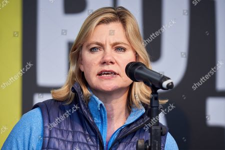 Justine Greening addresses the People's Vote rally in Parliament Square
