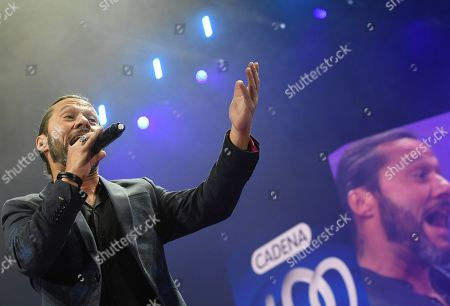 Argentinian singer Diego Torres performs on stage during the charity concert 'La Noche de Cadena 100' held at the Wizink Center pavilion in Madrid, Spain, 23 March 2019.