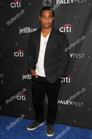 """Beulah Koale, cast member of CBS's """"Hawaii Five-0"""" arrives at the 36th Annual PaleyFest at The Dolby Theatre, in Los Angeles"""
