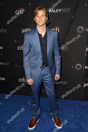 "Lucas Till, cast member of ""MacGyver"" arrives at the 36th Annual PaleyFest at The Dolby Theatre, in Los Angeles"