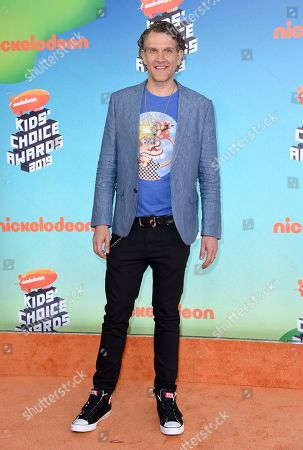 Jeffrey Nicholas Brown arrives at the Nickelodeon Kids' Choice Awards, at the Galen Center in Los Angeles