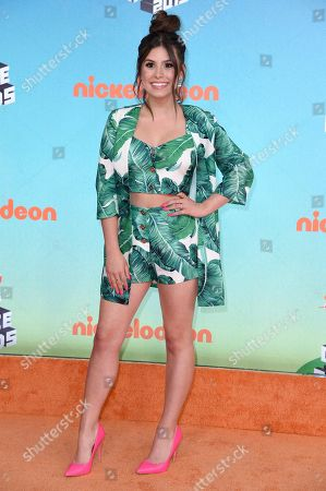 Madisyn Shipman arrives at the Nickelodeon Kids' Choice Awards, at the Galen Center in Los Angeles