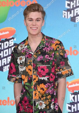Owen Joyner arrives at the Nickelodeon Kids' Choice Awards, at the Galen Center in Los Angeles