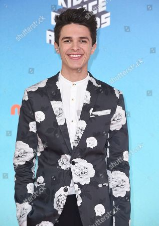 Brent Rivera arrives at the Nickelodeon Kids' Choice Awards, at the Galen Center in Los Angeles