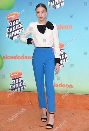 Jayden Bartels arrives at the Nickelodeon Kids' Choice Awards, at the Galen Center in Los Angeles
