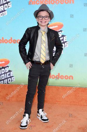 Raphael Alejandro arrives at the Nickelodeon Kids' Choice Awards, at the Galen Center in Los Angeles