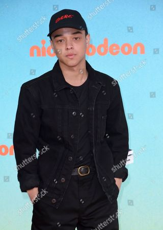 Jason Genao arrives at the Nickelodeon Kids' Choice Awards, at the Galen Center in Los Angeles