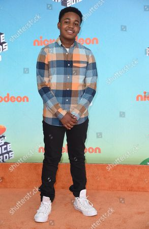 Issac Brown arrives at the Nickelodeon Kids' Choice Awards, at the Galen Center in Los Angeles
