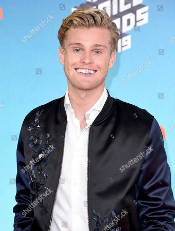 Stock Photo of Kaj van der Voort arrives at the Nickelodeon Kids' Choice Awards, at the Galen Center in Los Angeles