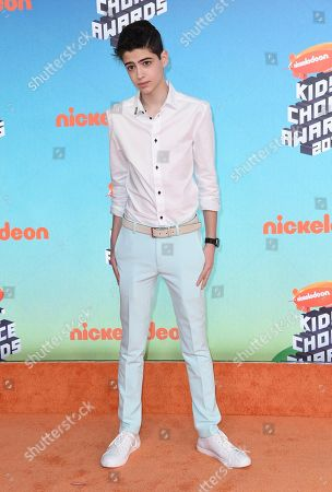 Joshua Rush arrives at the Nickelodeon Kids' Choice Awards, at the Galen Center in Los Angeles