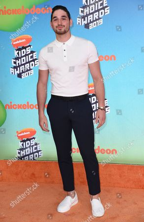 Alan Bersten arrives at the Nickelodeon Kids' Choice Awards, at the Galen Center in Los Angeles