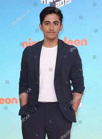 Karan Brar arrives at the Nickelodeon Kids' Choice Awards, at the Galen Center in Los Angeles