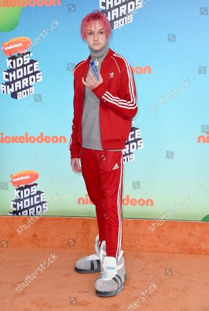 Russell Horning arrives at the Nickelodeon Kids' Choice Awards, at the Galen Center in Los Angeles