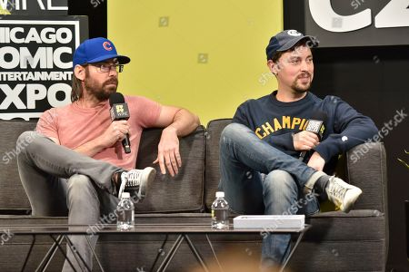 John Francis Daley, Martin Starr. Martin Starr and John Francis Daley seen on day 2 at C2E2 at McCormick Place on in Chicago
