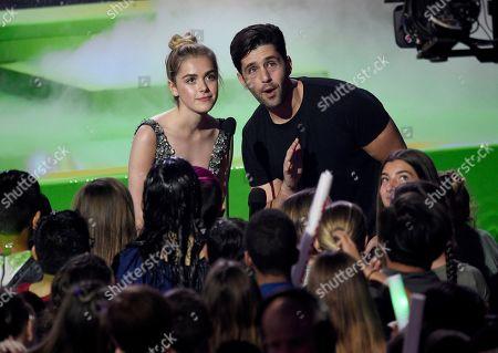 Kiernan Shipka, Josh Peck. Kiernan Shipka, left, and Josh Peck present the award for favorite social star at the Nickelodeon Kids' Choice Awards, at the Galen Center in Los Angeles