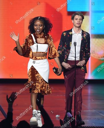 Stock Photo of Jace Norman, Riele Downs