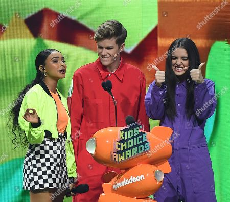 Stock Picture of Daniella Perkins, Lilimar Hernandez, Owen Joyner