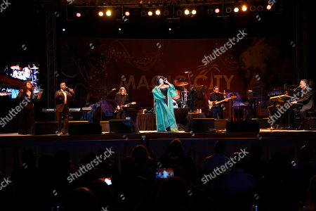 Mary Wilson performs at Ultimate Flashback Concert at Magic City Casino on in Miami