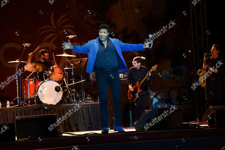 Ernest Evans, know as Chubby Checker performs at Ultimate Flashback Concert at Magic City Casino on in Miami