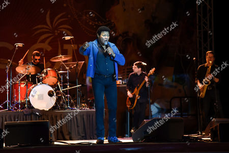 Stock Photo of Ernest Evans, know as Chubby Checker performs at Ultimate Flashback Concert at Magic City Casino on in Miami