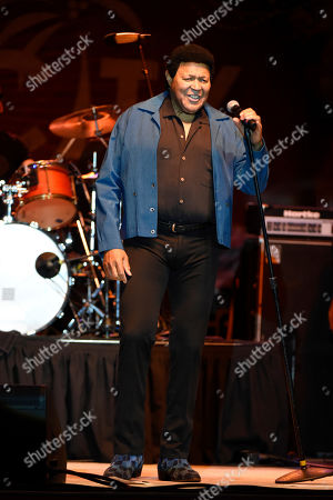 Stock Image of Ernest Evans, know as Chubby Checker performs at Ultimate Flashback Concert at Magic City Casino on in Miami