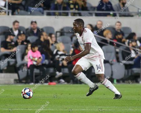 Los Angeles, CA...Real Salt Lake defender Nedum Onuoha (14) during the Los Angeles Football Club vs Real Salt Lake at BANC OF CALIFORNIA Stadium in Los Angeles, Ca on , 2019. Jevone Moore