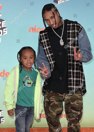 Stock Picture of Tyga and King Cairo Stevenson