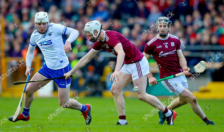 Galway vs Waterford. Galway's Darren Morrissey with Shane Barrett of Waterford