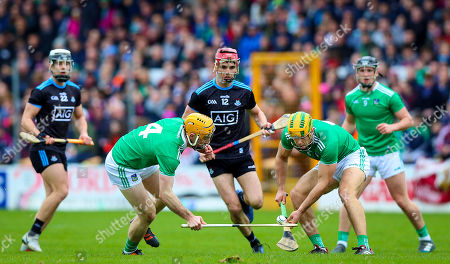 Dublin vs Limerick. Limerick's Richie English and Dan Morrissey