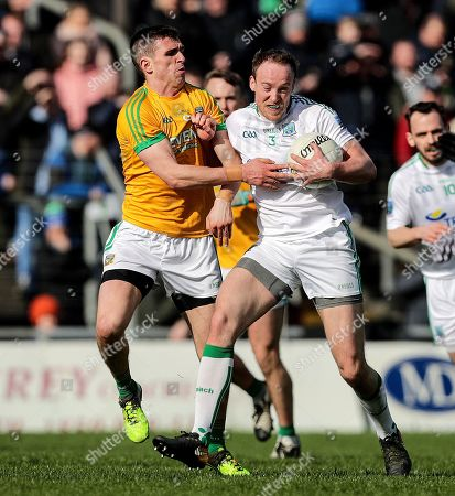 Meath vs Fermanagh. Fermanagh's Che Cullen and Shane McEntee of Meath