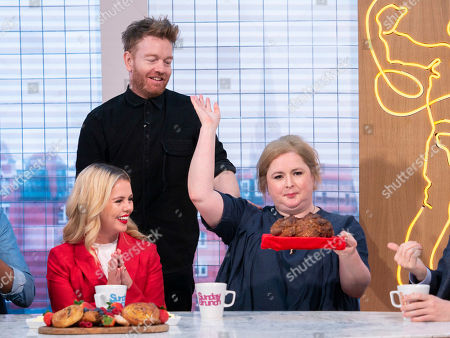 Saoirse-Monica Jackson and Siobhan McSweeney with Kevin and Soda Bread