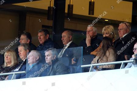 Former Spurs stars Mark Falco, Osvaldo Ardiles, Ray Clemence, Graham Roberts and John Pratt observe during Tottenham Hotspur Under-18 vs Southampton Under-18, Under-18 Premier League Football at Tottenham Hotspur Stadium on 24th March 2019